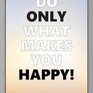 happy plakat