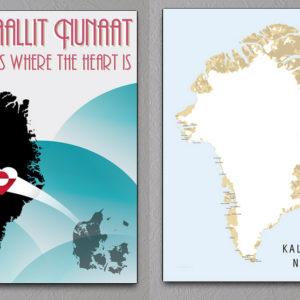 2 stk. grønlandske plakater