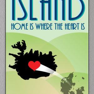 Plakat med island