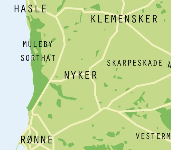 Detalje Bornholmsk plakat