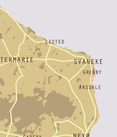 Detalje af Bornholmsk plakat