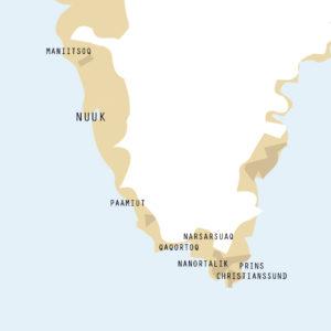 Detalje af grønlandsk plakat