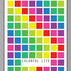 colorful life plakat