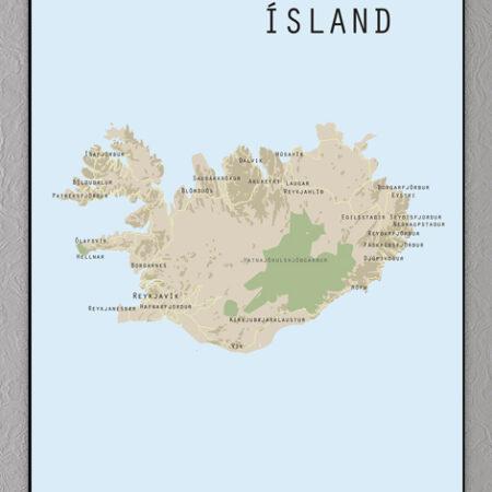 Island lankort plakat