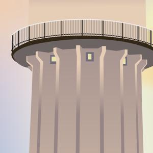 rødovre vandtårn plakat detalje