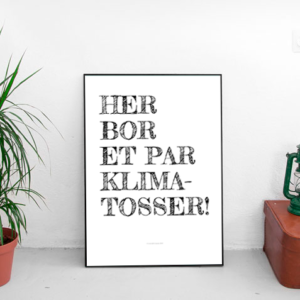 klimatosse plakat