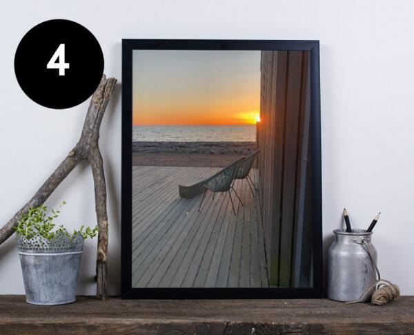 bornholmsk solnedgang plakat
